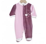 """Pyjama bébé """"Coeur Rose"""""""