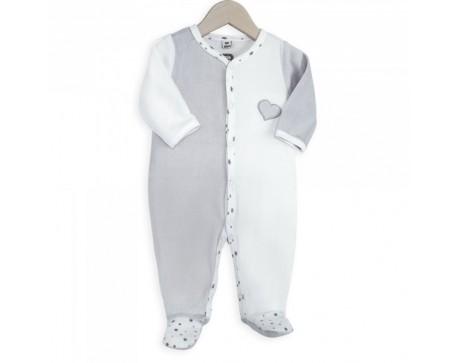 """Pyjama Bébé Velours """"COEUR"""""""
