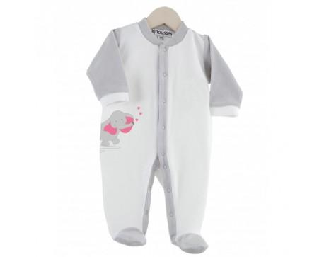 "Pyjama Bébé Velours  ""ELEPHANTEAU"""