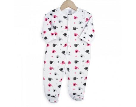 pyjama velours pressionn devant troiskilosept gaspard alice. Black Bedroom Furniture Sets. Home Design Ideas