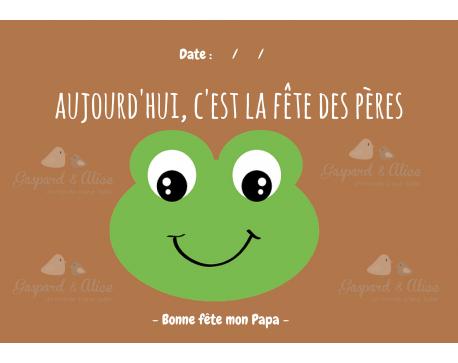 Page Carnet de Vie - Fête des Pères