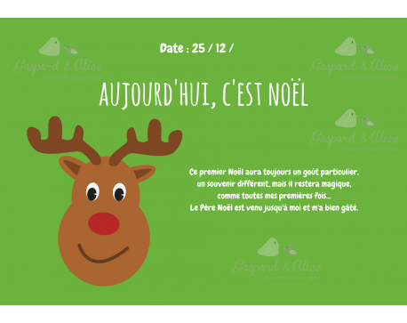 Page Carnet de Vie - Noël