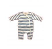 Pyjama bébé prématuré rayé bleu
