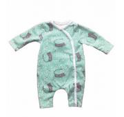 Pyjama pour prématuré chat vert