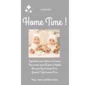 Faire-Part Numérique Home Time - JUMEAUX