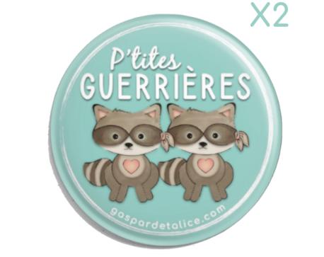 Badges Duo - lot de 2 - P'tites guerrières