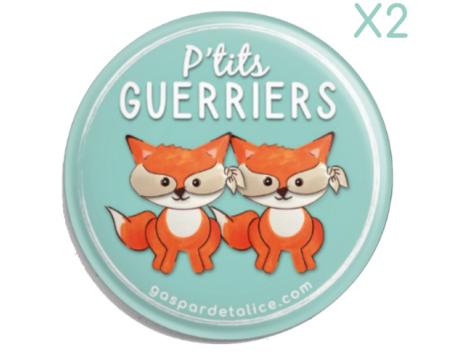 Badges Duos - Lots de 2 - P'tits guerriers