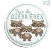 Badges Trio - Lot de 3 - P'tites guerrières