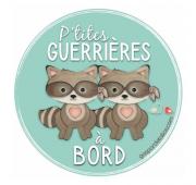 Sticker Jumelles - P'tites guerrières à bord