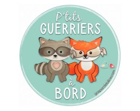 Sticker Jumeaux Mixte - P'tits guerriers à bord