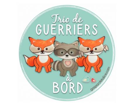 Sticker Triplés Mixte - P'tits guerriers à bord