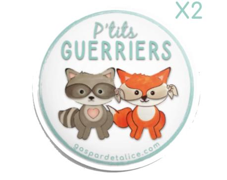 Badges Jumeaux Mixte - P'tits guerriers