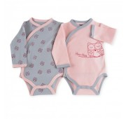 Body bébé Hibou - lot de 2
