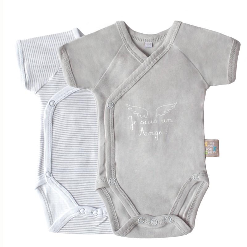f4f67f1b9f9d6 Body bébé manches courtes - Les Chatounets - GASPARD ALICE