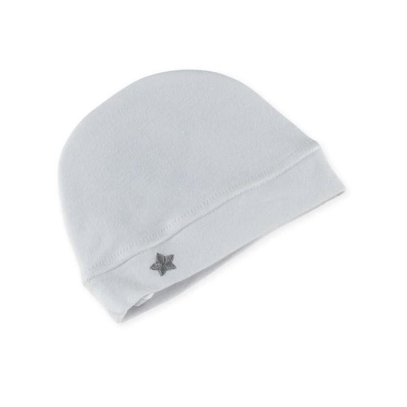 6b6d19d17454 Bonnet naissance coton blanc - Gaspard Alice